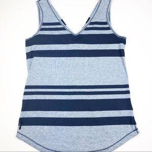Lolë Navy Blue Stripe Tank Top Womens Small